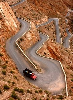 Morocco,I would love to go there but I'd stay off this road.