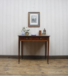 Antique Console Writing Table, Heals Mahogany Hall Table #Victorian #Desks