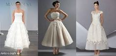 ankle length wedding dress - Google Search