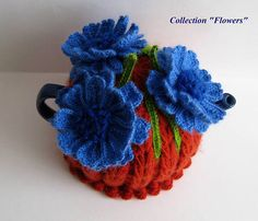 Tea cozy. Teapot cosy. Crochet Tea Cozy. Knitted Tea Cosy. Tea