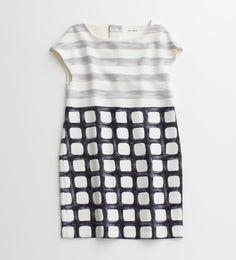 // Non-Sens Block Dress, Japan pattern, block dress