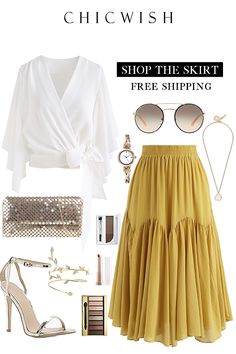 Brightening Your Beauty Midi Skirt - My Tutorial and Ideas Fashion Mode, 1940s Fashion, Modest Fashion, Look Fashion, Hijab Fashion, Trendy Fashion, Fashion Outfits, Womens Fashion, Trendy Style