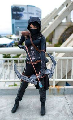Not a Fem Green Arrow but Lyz Brickley doing a character from Thief II from A Little Dead Podcast