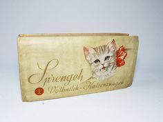 alte Schokoladenverpackung Pralinenschachtel SPRENGEL Katzenzungen   eBay