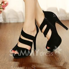 $13.70 Sexy Women's Sandals With Stilettlo Heel and Zipper Design