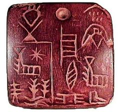 Early Sumerian Tablet - 3100 / 2900 BCE - Discovered in Uruk, (Southern Mesopotamia) -- Details of a land purchase which included one male slave. No further reference provided. Ancient Scripts, Ancient Symbols, Ancient Artifacts, Ancient Aliens, Ancient Egypt, Ancient History, Mayan Symbols, Viking Symbols, Egyptian Symbols