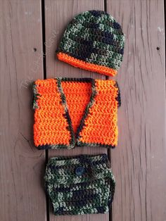 Crochet Hunter Set Crochet Camo Set Hunting Set by TheLittleCove