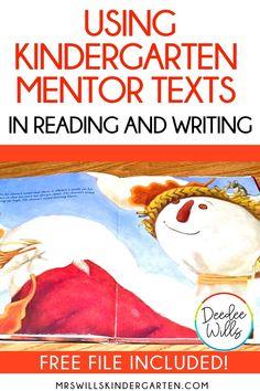 Kindergarten Mentor Texts to teach reading and writing! Kids Writing, Writing Resources, Writing Skills, Writing Activities, Kindergarten Classroom Setup, Kindergarten Learning, Close Reading Strategies, Writing Assignments, Mentor Texts