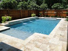 Natural Travertine Pool Deck Shear Descents Fort Worth Texas Travertine Pool Design Ideas
