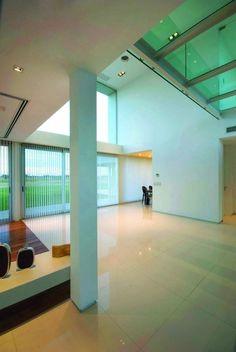 Glänzender Fußboden Architektur Argentinien-Glas Beton