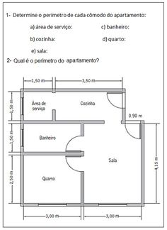 planta Cabin House Plans, Cabin Homes, Floor Plans, How To Plan, Ale, Area And Perimeter, Geometry Activities, Math Books, Lesson Planning