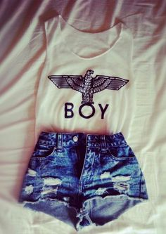 Loving Boy London Denim Fashion, Teen Fashion, Fashion Outfits, Fashion Styles, Womens Fashion, Fashion Ideas, Boy London, Spring Summer Fashion, Denim Jeans