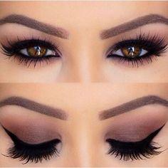 A perfect eye make up works wonders!A perfect eye make up works wonders! Smokey Eye Makeup Look, Hooded Eye Makeup, Cat Eye Makeup, Eye Makeup Tips, Makeup For Brown Eyes, Makeup Goals, Skin Makeup, Beauty Makeup, Makeup Ideas