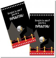 A Star Is Born Hollywood - Baby Shower Scratch Off Game Pack