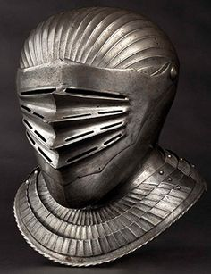 South German Maximilian style close helmet for a fluted suit of armour 1530.