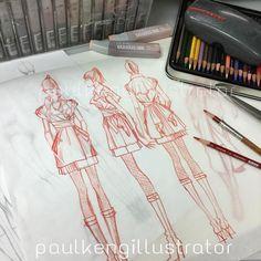 The best way to show your design process #doodle #sketch #drawing #workinprogress #artist #designer #paulkengillustrator