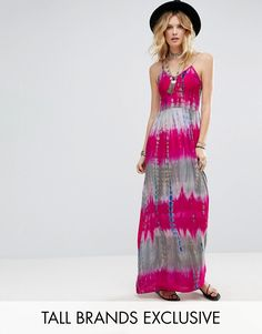 Buy it now. Glamorous Tall Cami Strap Maxi Dress In Tie Dye Print - Multi. Maxi dress by Glamorous Tall, Lightweight woven fabric, All-over tie-dye print, V-neck, Regular fit - true to size, Machine wash, 70% Ramie, 30% Cotton, Our model wears a UK 8/EU 36/US 4 and is 180cm/5'11 tall, Exclusive to ASOS. ABOUT GLAMOROUS TALL Glamorous pulls together an eclectic mix of vintage influences and brand new trends. Glamorous Tall brings us the same fashion-led pieces as their mainline collection �…