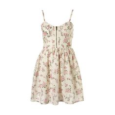 Topshop Floral Broderie Print Corset Dress 10 ❤ liked on Polyvore featuring dresses, vestidos, robes, floral embroidery dress, pattern dress, botanical dress, flower print dress and floral printed dress