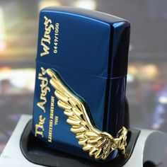 Japanese Angel Wings Zippo Lighter Limited Edition-TAW-VIII-BL