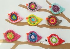 Crocheted Birds from three sixteen. Free color choice.    The price is valid for three birds of your choice.    Easy to buy me (numbers tell) the desi