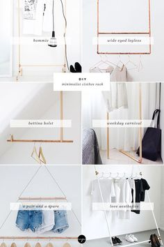 DIY: Minimalist clothes rack: