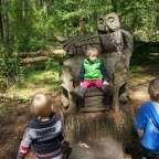 Speelbos De Kemmer in Oirschot kan en mag het! Een speelbos speciaal ingericht voor kinderen. We sprongen van boomstronk naar boomstronk,......