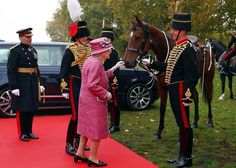 Queen Elizabeth attends the King's Troop 70th anniversary parade