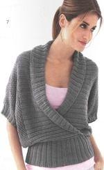 Серый пуловер, вязанный спицами - Вязание - Страна Мам