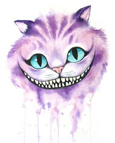 [No Longer Available] Cheshire Cat Watercolor by Denise Soden, 8X10 print, donated by the artist