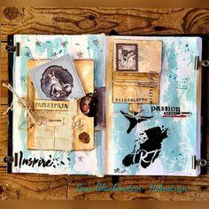 """29 tykkäystä, 2 kommenttia - LENA BLANKENSTEIN-HOLMSTRÖM (@lena_blankenstein_holmstrom) Instagramissa: """"Art journal @itdcollection #paperipaja #paperipaja21 #etäpaperipaja #paperipajazoom…"""" Journal, Cover, Books, Instagram, Art, Art Background, Libros, Book, Kunst"""