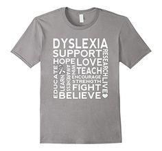 Men's Dyslexia Awareness Ribbon T-shirt Support Walk Tee ... http://www.amazon.com/dp/B01DYOYENM/ref=cm_sw_r_pi_dp_wFFgxb1XR9SC5