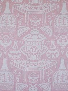 Clarence House New Vase Linen - Pink (34639-4) asian fabric