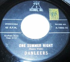 """They were a quintet hailing from Brooklyn, New York. Jimmy Weston was the lead singer, and the group was named after their manager, Danny Webb, who wrote their most famous number, """"One Summer Night""""."""