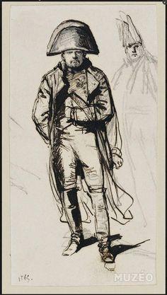 Napoléon avec un officier