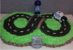 Police Cake - maybe a number 7 or 4 track shape