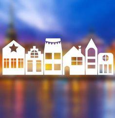 Weihnachtliche Häuser zum Verzieren - Plotterdatei via Makerist.de