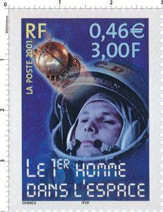 Timbre : 2001 LE 1er HOMME DANS L'ESPACE | WikiTimbres