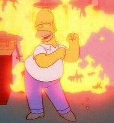 This is fine Cartoon Icons, Cartoon Memes, Cartoons, The Simpsons, Simpsons Meme, Dankest Memes, Funny Memes, Cartoon Profile Pictures, Mood Pics