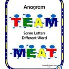 Anagram Center Activity for small groups or independent literacy station work during guided reading. Students look at a word and use the letters of...