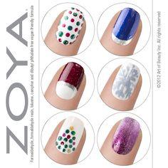 Zoya Nail Polish, Zoya Nail Care Treatments and Zoya Hot Lips Lip Gloss: Zoya Nail Polish Holiday Nail Look Inspiration!