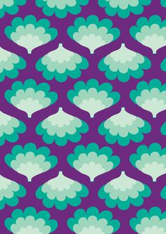 Soul Seventy Menta retro pattern aqua turqouise teal purple