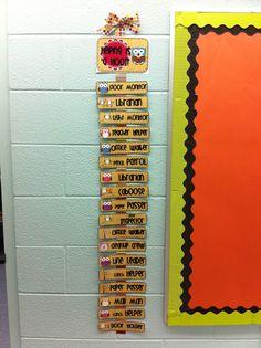Classroom jobs clip chart! So cute!