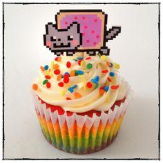 Nyan Cat Rainbow cupcake