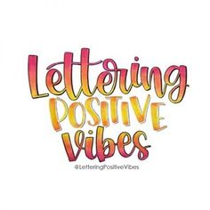 What is the Lettering Positive Vibes Challenge and why you should participate? Everything you need to know about a lettering challenge. Chalk Lettering, Lettering Styles, Calligraphy For Beginners Worksheets, Learn Calligraphy, Calligraphy Handwriting, Penmanship, Positive Vibes, Positive Quotes, Tombow Fudenosuke