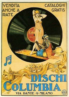 Columbia Records vintage advertisement, Italy, 1920s