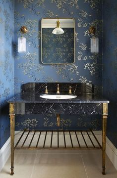 home decor luxury he Thames has been designed with an angular art deco look and exquisite marble paneling, as glamorous as it is luxurious. Featuring a shelf for additional storage, the Thames is both a beautiful and practical bathroom vanity - Home Decor Luxury Interior Design, Bathroom Interior Design, Interior Decorating, Beautiful Interior Design, Decorating Blogs, Bad Inspiration, Bathroom Inspiration, Powder Room Wallpaper, Feature Wallpaper