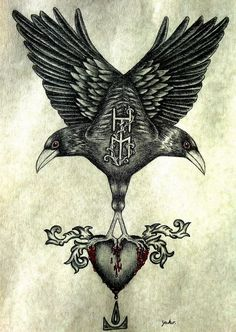 "In Norse mythology, Huginn (from Old Norse ""thought"" and Muninn (Old Norse ""memory"" or ""mind"") are a pair of ravens that fly all over the world, Midgard, and bring information to the god Odin. Huginn and Muninn are attested in the Poetic Edda, compiled in the 13th century from earlier traditional sources: the Prose Edda and Heimskringla, written in the 13th century by Snorri Sturluson; in the Third Grammatical Treatise, compiled in the 13th century by Óláfr Þórðarson; and in the poetry of…"