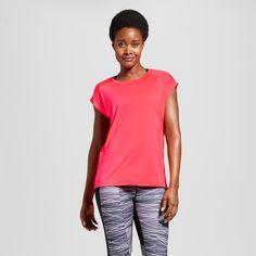 09a2e5c4 Women's Mesh Run T-Shirt - C9 Champion Neon Flare Xxl C9 Champion, Flare