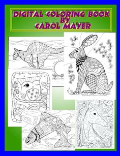 Adult Coloring Book Digital Download 5 Pages By Maroonmanx On Etsy