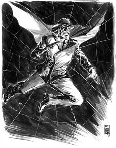 The Spider, Master of Men    Pulp Heroes by Jun Bob Kim / Tumblr